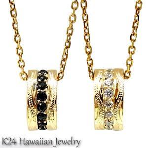 ハワイアンジュエリー K24 純金 コーティング k24 ペンダント ネックレス  プルメリア スクロール 誕生日 ギフト sale|juraice