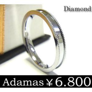 ステンレスリング メンズ レディース ダイヤモンド スチールシルバー ブランド Adamas プレゼント 年度末 sale|juraice