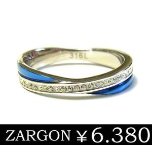 リング 指輪 メンズ ステンレス ブルー 石 ユニセックス レディース ジルコニア 青 ペア ZARGON ju8 年度末 sale|juraice