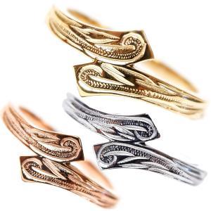 ハワイアンジュエリー リング レディース メンズ 指輪 イエローゴールド ピンクゴールド 誕生日 プレゼント|juraice