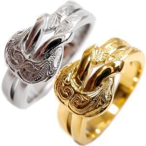ハワイアンジュエリー リング 指輪 スクロール レディース メンズ 金属アレルギー対応 サージカル ステンレス インスタ sale|juraice
