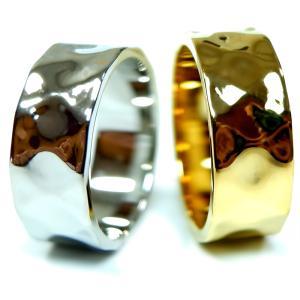 リング 指輪 平打ち 太め でこぼこレディース プレゼント ブランド 金属アレルギー対応 サージカル ステンレス juraice