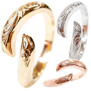 ハワイアンジュエリー リング 指輪 スクロール メンズ レディース プレゼント ブランド 金属アレルギー対応 サージカル ステンレス juraice