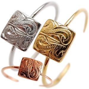 ハワイアンジュエリー リング 指輪 スクロール スクエア メンズ レディース プレゼント ブランド 金属アレルギー対応 サージカル ステンレス juraice