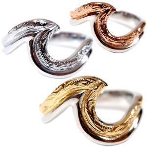 ハワイアンジュエリー リング 指輪 スクロール ウェーブ レディース メンズ 金属アレルギー対応 サージカル ステンレス インスタ sale|juraice