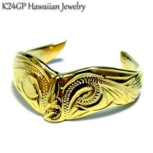 ハワイアンジュエリー リング K24gp  24kgp K24gp  K24 イエローゴールド メンズ レディ−ス ホエールテイル 記念日 誕生日 プレゼント ギフト sale|juraice