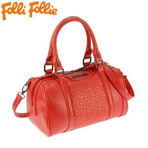 フォリフォリ HB15P006SR/RED レッド 赤 ミニボストン 手提げバック Folli Follie ハンドバック ショルダーバック juraice