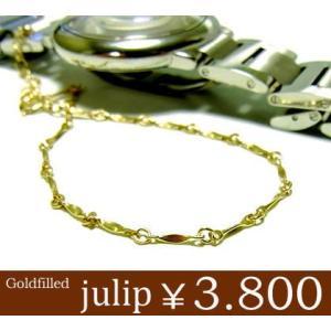 julip 14KGF Goldfilled コネクトゴールドブレスレット 年度末 sale juraice
