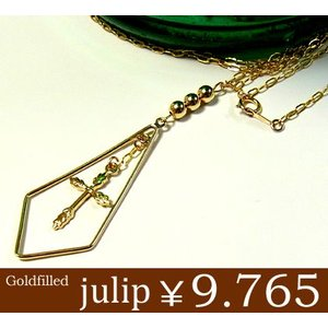 【julip】クロス14Kゴールドフィルドネックレス/ロングネックレス/ゴールド/Goldfilled/14KGF 年度末 sale juraice