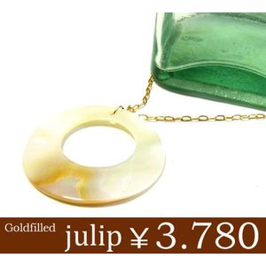 【julip】シェル ゴールドゴールドフィルドネックレス/ロングネックレス/ゴールド/Goldfilled/14KGF 年度末 sale|juraice