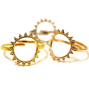 ボヘミアンリゾート Bohemian resort リング 太陽 SUN フリーサイズ  フリーリング 指輪 ステンレス 金属アレルギー対応 インスタ juraice