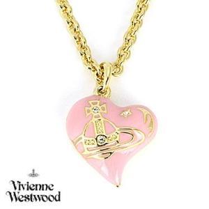 ヴィヴィアンウエストウッド MT12632/2 ゴールド/ピンク ハート ネックレス Vivienne Westwood キュービックジルコニア|juraice