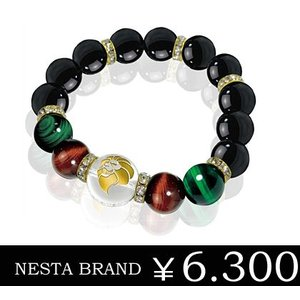 【ネスタブランド】NESTA クリスタル/ブラックストーン/レッドタイガーアイ/グリーンタイガーアイ パワーストーンブレスレット sale|juraice