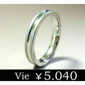 【vie】ラインステンレスリング/ヴィー/マット/シンプル/ユニセックス sale|juraice