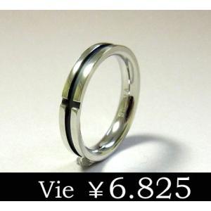 【vie】ブラッククロスステンレスリング/ヴィー/レディース/ギフト/メンズ sale|juraice