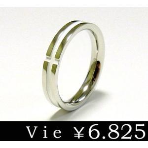 リング 指輪 ステンレスリング クロス ホワイトコーティング vie ヴィー シンプル メンズ レディース ユニセックス ペア sale|juraice