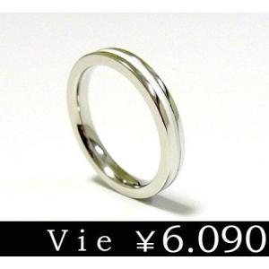 リング 指輪 ステンレスリング ライン ホワイトコーティング vie ヴィー シンプル メンズ レディース ユニセックス ペア sale|juraice
