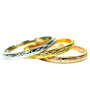 数量限定 ハワイアンジュエリー 指輪 リング 重ね着け スクロール レディース プレゼント  金属アレルギー対応 サージカル ステンレス|juraice