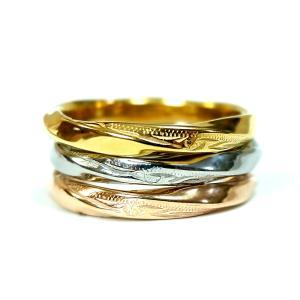 数量限定 ハワイアンジュエリー 指輪 リング スクロール ツイスト 捻じれ 重ね着け 金属アレルギー対応 サージカル ステンレス|juraice