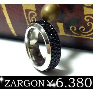 指輪 ステンレスリング ペアリング パヴェ 石 メンズ レディース ザルゴン ZARGON ju8 年度末 sale|juraice