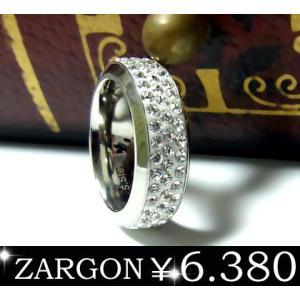 指輪 ステンレスリング ペアリング パヴェ 石 レディース ザルゴン ZARGON ju8 年度末 sale|juraice