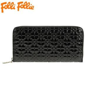 フォリフォリ WA13P038WK/BLK 長札(ラウンドファスナー) 財布 サイフ Folli Follie|juraice