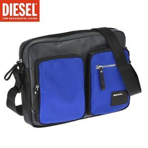 ディーゼル X03021-P0409/H5970 ブラック ブルー DIESEL ショルダーバック|juraice