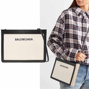 バレンシアガ BALENCIAGA CABAS キャンバスポシェットクラッチショルダーバッグ ブラック|jurer-store