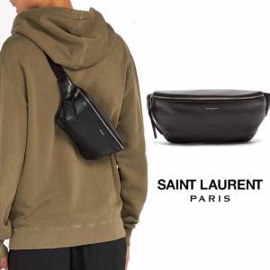 サンローラン Saint Laurent レザー ベルトバッグ ウエストポーチ ブラック|jurer-store