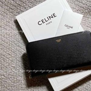 CELINE セリーヌ ラージ ジップドウォレット 長財布 10B553BEL.38NO ブラック 新ロゴ|jurer-store