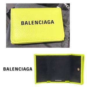 バレンシアガ エブリデイミニ財布 3つ折り財布 BALENCIAGA ネオングリーン NEON GREEN|jurer-store