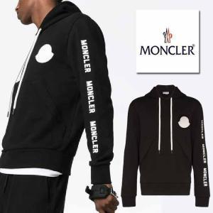 モンクレール MONCLER  ロゴ スウェットシャツ トレーナー パーカー ブラック|jurer-store