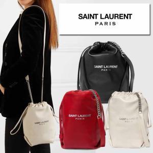 サンローラン Saint Laurent TEDDY SMALL  テディ ブラック ホワイト レッド|jurer-store