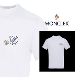 モンクレール MONCLER  ダブルロゴ コットンTシャツ ホワイト|jurer-store