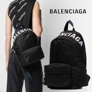 バレンシアガ BALENCIAGA ロゴ ウィール バックパック スモールサイズ リュック ブラック|jurer-store