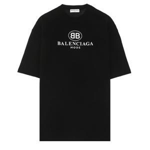 バレンシアガ BALENCIAGA BBロゴプリント Tシャツ オーバーサイズ ブラック 492258TYK231000|jurer-store