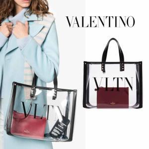 ヴァレンティノ  VALENTINO VLTN スモール クリア トートバッグ RW2B0D21MCE2P0|jurer-store