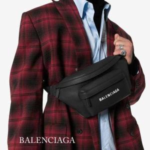バレンシアガ BALENCIAGA ロゴプリントエブリデイ ウエストポーチ ベルトバッグ ブラック 552375DLQ4N1000|jurer-store
