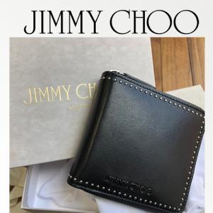 ジミーチュウ Jimmy Choo LAWRENCE ラウンドジップ二つ折り財布 ギフトにも♪ブラック/BLACK|jurer-store