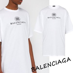 バレンシアガ BALENCIAGA BBロゴプリント Tシャツ ホワイト 556150TYK239000|jurer-store