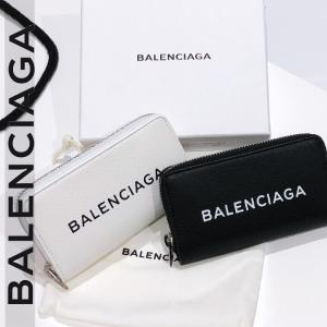 バレンシアガ エブリデイ財布 コインケース  BALENCIAGA ブラック/ホワイト|jurer-store