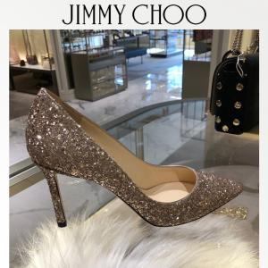 ジミーチュウ Jimmy Choo ROMY85 BALLET PINK グリッターパンプス サイズ36.5|jurer-store