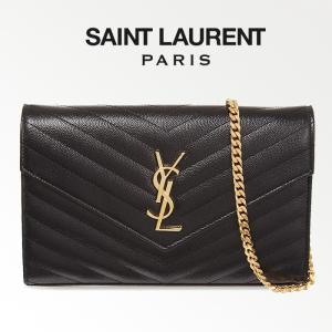 サンローラン Saint Laurent モノグラム チェーンウォレット ショルダーバッグ ブラック/BLACK 377828BOW011000|jurer-store