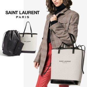 在庫処分特価!サンローラン Saint Laurent テディ ショッピングバッグ(リネンキャンバス)|jurer-store