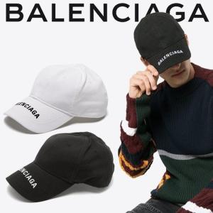 バレンシアガ つばロゴ ベースボールキャップ  BALENCIAGA  ホワイト ブラック|jurer-store