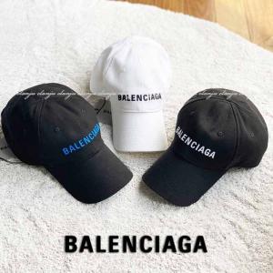 数量限定SALE!バレンシアガ ロゴ ベースボールキャップ BALENCIAGA ブラック/BLACK ホワイト