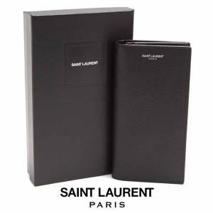 サンローラン SAINT LAURENT コンチネンタルウォレット グレインパウダーレザー 396308BTY0N1000 ブラック|jurer-store
