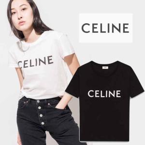 セリーヌ  CELINE クルーネックTシャツ / CELINEプリントジャージー|jurer-store