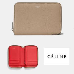 セリーヌ  CELINE ジップアラウンド 二つ折り財布 104393AFE.03UN デューン|jurer-store