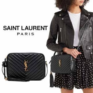 サンローラン Saint Laurent モノグラム LOUショルダーバッグ ブラック|jurer-store